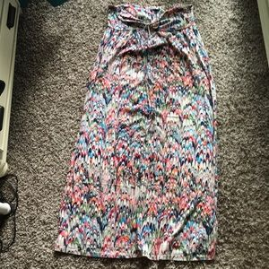 Gap Abstract Multicolor Patterned Maxi Dress XL